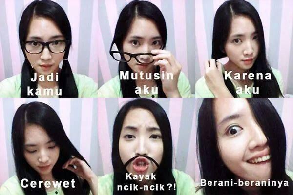 「あの子の方が可愛いから」のインドネシア語の例