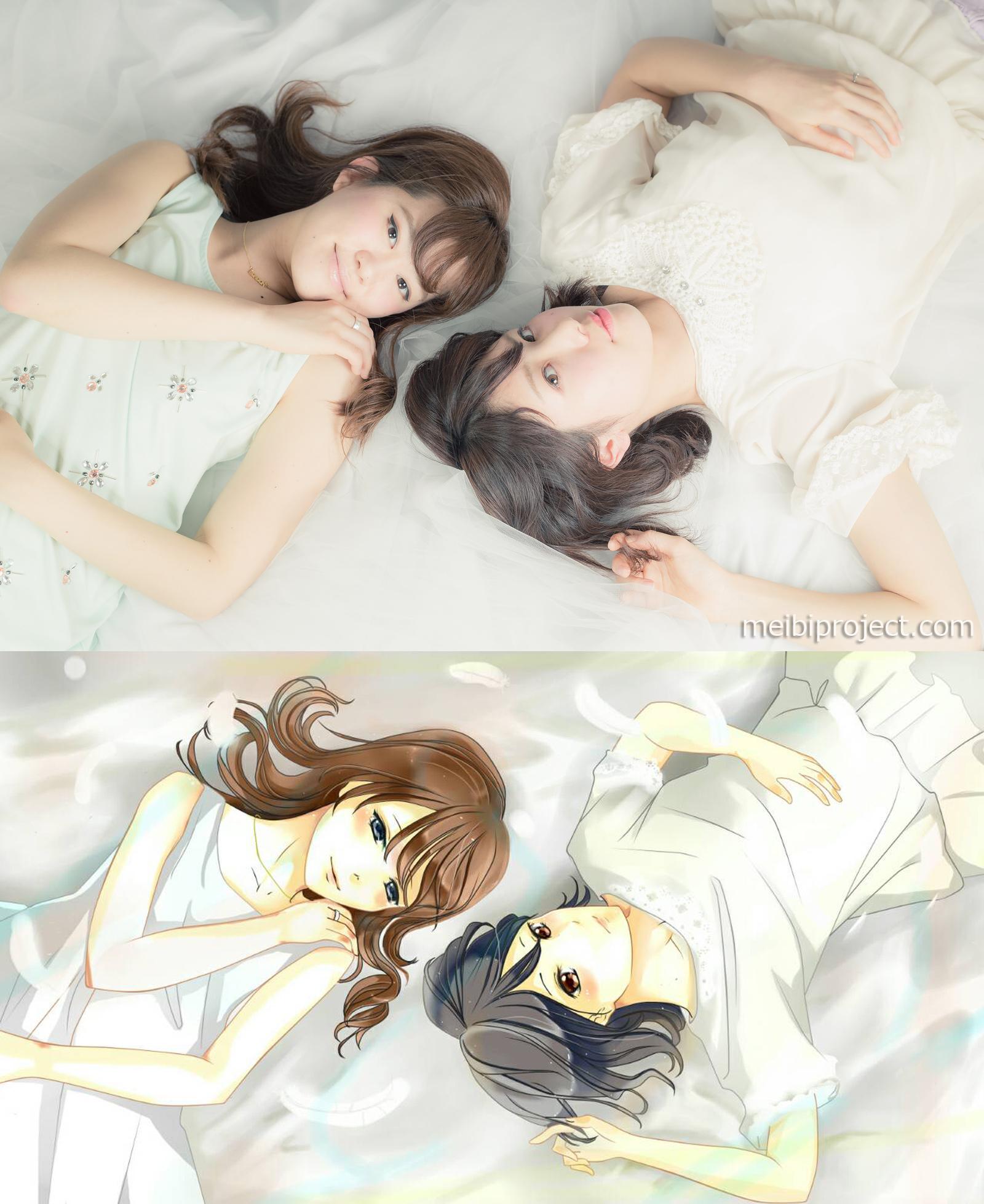 Airi Tanaka & Miki Kando by Made Yani Anggarawati